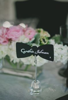Bow Tie Escort Cards ANDpink lips for girls