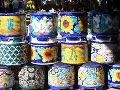 Mexican Flower Pots