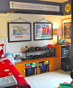 The Im Family: Train Bedroom for Ozzy...love the quote!