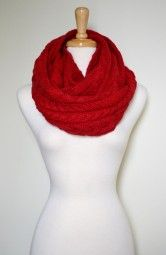 Enjoy this gorgeous and soft knitted infinity scarf all season long. $39.00 Use code PINIT at checkout for 10% off your entire order.
