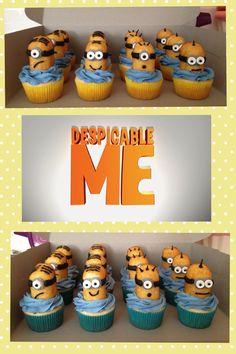 minion cupcakes twinkies, minion twinkie cupcakes, minion parti