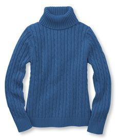 Double L Cotton Sweater, Cable Turtleneck: Turtlenecks | Free Shipping at L.L.Bean