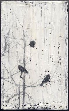 encaustic crows, Dawn Nielson