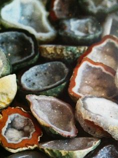 Collection of Agate Geodes.