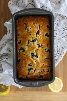 lemon blueberry loaf. Just made this and it's amaaaazing! I used lemon yogurt, why not?!
