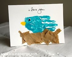 Handprint Bird Mother's Day Card - Things to Make and Do, Crafts and Activities for Kids - The Crafty Crow