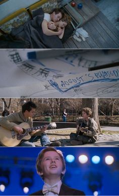 music, august rush, heart, dates, carrie bradshaw, films, little boys, instruments, jonathan rhys meyers
