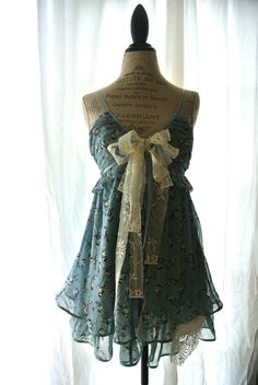 French blue slip dress romantic shabby by TrueRebelClothing, $76.00