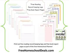 Free Reading Logs & Book Report Pages (Free Homeschool Planner)