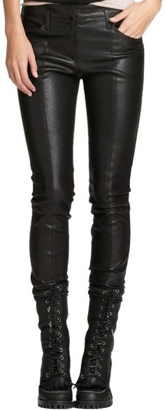 Leather pants and wicked boots