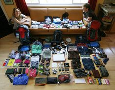 backpackers - click picture for interactive packing guide