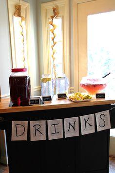 drink station, aladdin parti, simpl parti, parti food, parti idea