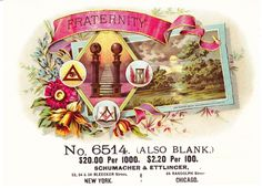 Fraternity Sample Inner Antique Cigar Label Masonic Eye Hourglass | eBay