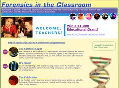 Free Forensic Science Units - Check out these free forensic science units at Forensics in the Classroom.  This free forensic science curriculum was developed for use with middle school and high school students.