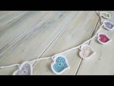How To - Crochet Heart Bunting - YouTube