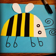 Art Projects for Kids: Bumble Bee Collage. Great for kinders.