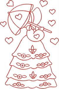 Valentine Sunbonnets #embroidery