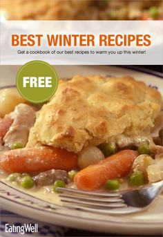 These healthy winter recipes, including creamy casseroles, easy slow-cooker recipes, lighter comfort-foodss and hearty pastas, feature the best flavors and produce of the season. Embrace the shorter days and colder temperatures with favorite winter recipes like Chicken Potpie, Hot Chile Grilled Cheese, Sweet Potato & Black Bean Chili and more.