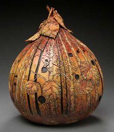 carv gourd, gourd art, marilyn sunderland, gourd carv, painted gourds, pumpkins, uniqu masterpiec, art installations, artist