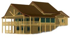 Country Chalet log home plan