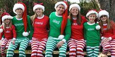 matching Christmas family pajamas like the ones PMall has!