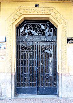 Blue Wrought Iron Door, Casablanca
