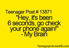 I know it says teenage post but I deff do this too and I'm 38 lol