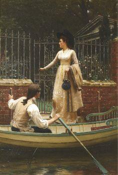 Art Blog: Edmund Blair Leighton : The Elopement 1893