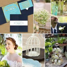 Love Bird Garden Wedding in Navy & Moss #gardenwedding #wedding #lovebirdwedding #navywedding #mossgreenwedding