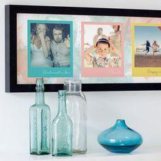 Watercolour pastel background Personalised Colourful Polaroids Print
