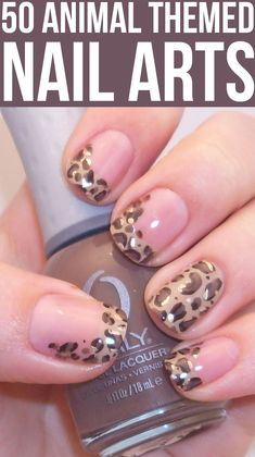We LOVE a good animal print! #nails #mani #manicure #nailart #animalprint