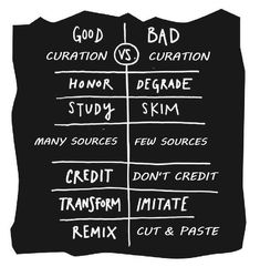 good curation and bad curation 5 #Content #Curation #Infographics
