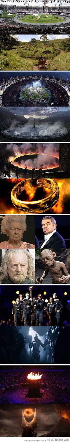 lotr, geek, the lord, opening ceremony, ring, olymp open, open ceremoni, funni, thing