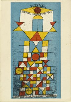 "The Sublime Side postcard for ""Bauhaus Exhibition Weimar 1923"", Paul Klee, 1923"