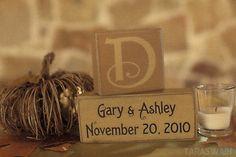 monogram wedding date, great wedding gift idea.