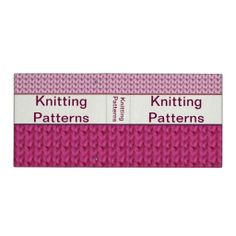 Knitting Pattern Binder : Crochet and Knitting Patterns on Pinterest 137 Pins