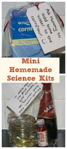Mini homemade science kits and other ideas #Science