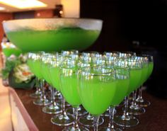 """Green Swamp Water"" punch for an African Safari themed sports awards event at Rose Theatre in Brampton"