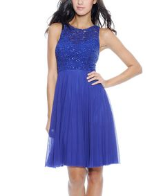 Take a look at this Peacock Dress by Decode 1.8 on #zulily today!