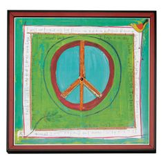 peac print, peac sign, peace signs, bold colors, print sign