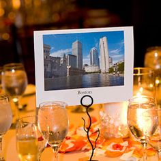30 Creative (New!) Reception Ideas: Postcards for tables - maybe vintage postcards for the photobooth?