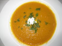 Ginger and Corriander Carrot Soup