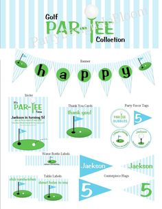 Printable Golf Party Great for Fathers Day by PartyDesignsInBloom, $25.00