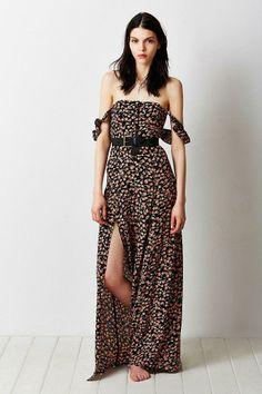 Flynn Skye Bardot Floral Maxi Dress