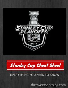 Stanley Cup Cheat Sheet by The Sweet Spot Blog #stanleycup #hockey