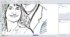 Digitizing a Pencil Sketch for Embroidery