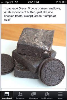 Oreo lumps of coal