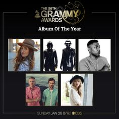 Congrats to Album Of The Year nominees; 'Good Kid, M.A.A.D. City' Kendrick Lamar, 'Random Access Memories' Daft Punk, 'The Blessed Unrest' Sara Bareilles, 'The Heist' Macklemore & Ryan Lewis, 'Red' Taylor Swift