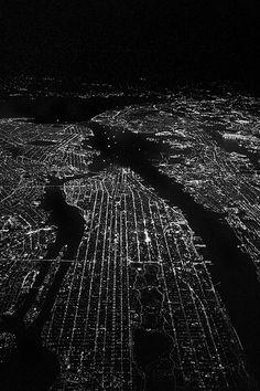 Above Manhattan New York City