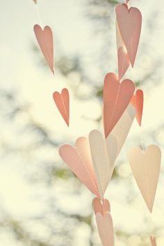 heart shaped streamers at a wedding!